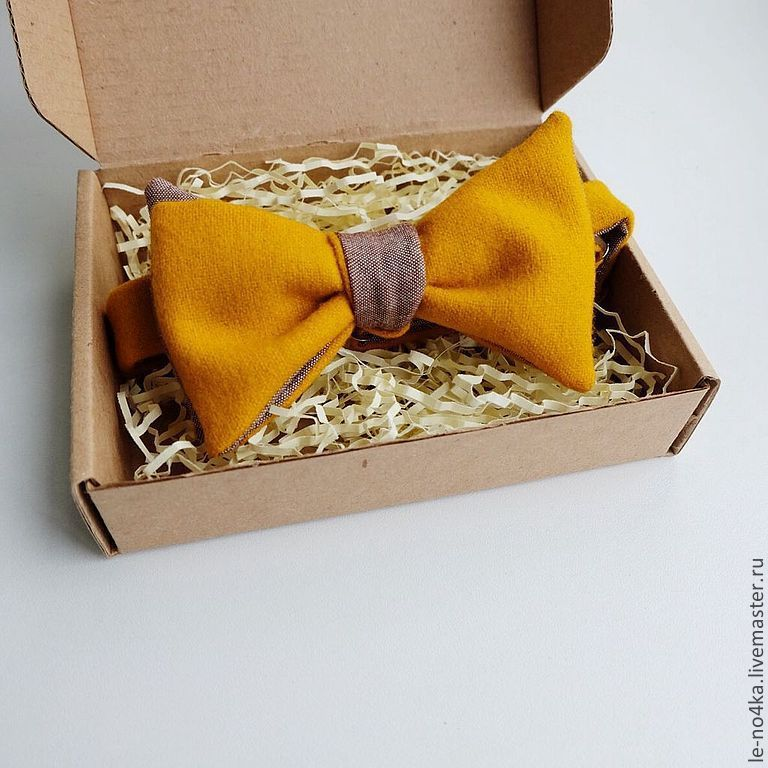 """Double-sided bow tie """"Honey and cinnamon"""", Ties, Moscow,  Фото №1"""