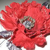 """Украшения ручной работы. Ярмарка Мастеров - ручная работа Цветок-брошь из ткани Мак """"Мэри"""". Handmade."""