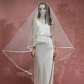 Свадебный салон ручной работы. Ярмарка Мастеров - ручная работа Кружевная фата, свадебная фата с кружевом А-3. Handmade.