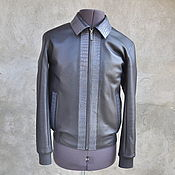 Мужская одежда handmade. Livemaster - original item Men`s outerwear: calf leather and crocodile leather jacket.. Handmade.