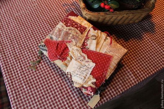 """Блокноты ручной работы. Ярмарка Мастеров - ручная работа. Купить Блокнот ручной работы  """"Лоскутные розы"""". Handmade. Блокнот, винтаж"""