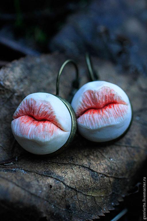 Earrings 'Lips', Earrings, Moscow,  Фото №1