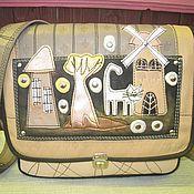 Сумки и аксессуары ручной работы. Ярмарка Мастеров - ручная работа сумка кожаная ТАМ ,ГДЕ МЕЛЬНИЦА СТОИТ. Handmade.