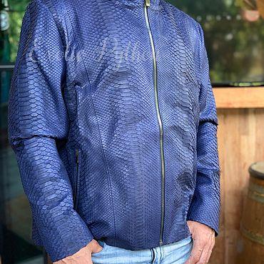 Одежда ручной работы. Ярмарка Мастеров - ручная работа Куртка из кожи питона. Handmade.
