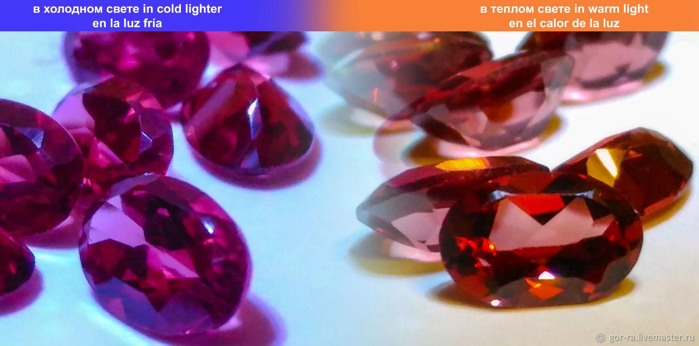 Malaya Garnet with the change of color 0,5 carat 6h4 mm. VVS, Minerals, Yoshkar-Ola,  Фото №1