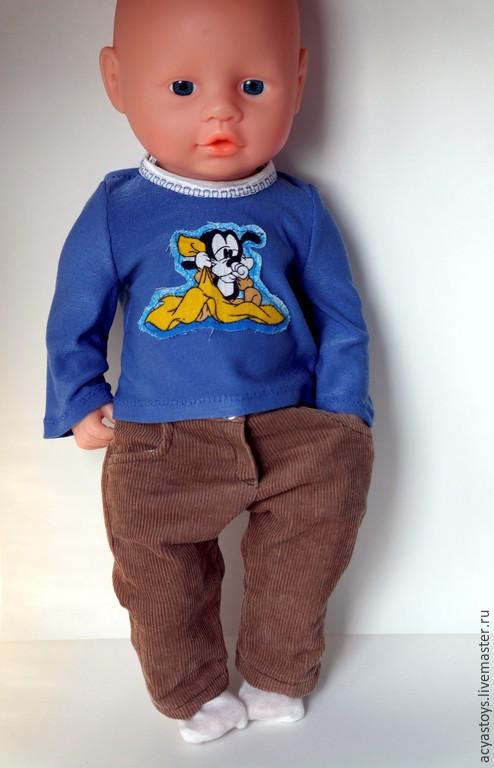 Одежда для кукол ручной работы. Ярмарка Мастеров - ручная работа. Купить Комплект для пупса, а-ля Беби  Бон. Брюки и кофта. Handmade.