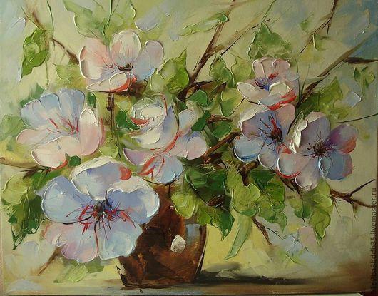 Картины цветов ручной работы. Ярмарка Мастеров - ручная работа. Купить цветы, цветения. Handmade. Картина, картина в подарок