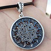 Украшения handmade. Livemaster - original item Amulet of the Valkyrie in the Sun. Silver 925 art.1010103. Handmade.