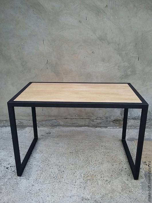 Мебель ручной работы. Ярмарка Мастеров - ручная работа. Купить Стол для работы в индустриальном стиле. Handmade. Черный, лофт, дуб