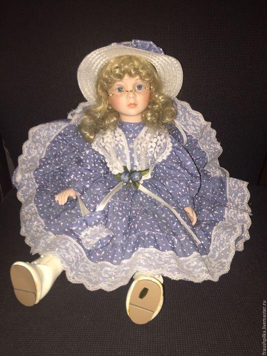 Коллекционные куклы ручной работы. Ярмарка Мастеров - ручная работа. Купить Коллекционная фарфоровая кукла Девочка в очках. Handmade. Комбинированный