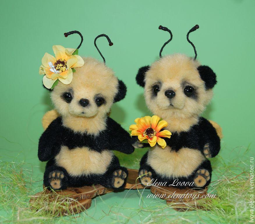 Мишки Тедди ручной работы. Ярмарка Мастеров - ручная работа. Купить Мишки - пчелки Миззи и Лиззи. Handmade. Авторская игрушка