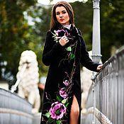 """Одежда ручной работы. Ярмарка Мастеров - ручная работа Пальто черное """"Шарм"""". Handmade."""