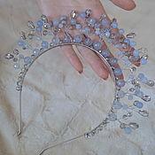 Свадебный салон handmade. Livemaster - original item Crown, tiara aquamarine quartz