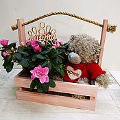 Короб ручной работы. Ярмарка Мастеров - ручная работа Ящик, короб для цветов и подарков. Handmade.