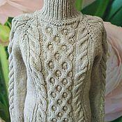 Одежда ручной работы. Ярмарка Мастеров - ручная работа Джемпер с косами из толстой пряжи. Handmade.