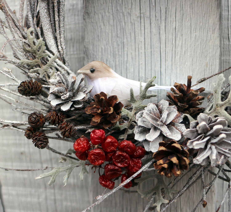 Венок интерьерный Зимний лес в эко стиле, Подарки, Санкт-Петербург, Фото №1