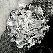 Украшения handmade. Livemaster - original item Copy of Copy of Copy of Flower from leather brooch peony. Handmade.