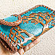 Leather purse 'Celtic Tree of Life' - turquoise. Wallets. schwanzchen. Online shopping on My Livemaster.  Фото №2