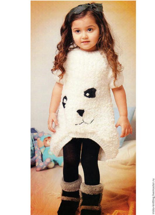 """Одежда для девочек, ручной работы. Ярмарка Мастеров - ручная работа. Купить Вязанное платье для девочки """"Панда"""". Handmade. Белый"""