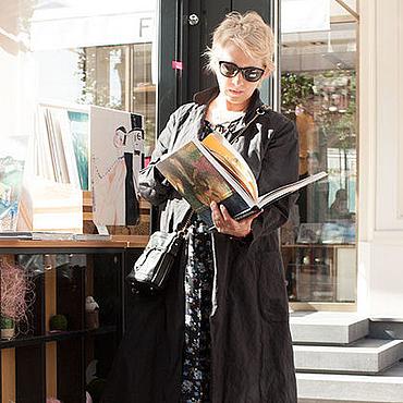 Одежда ручной работы. Ярмарка Мастеров - ручная работа Летнее пальто темно-серое art.173a. Handmade.