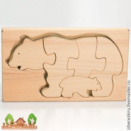 Игрушки животные, ручной работы. Ярмарка Мастеров - ручная работа. Купить Медведи. Мать и дитя.. Handmade. Медведь, Пазл, дерево
