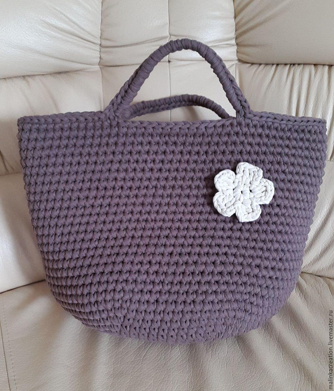сумка из трикотажной пряжи купить москва