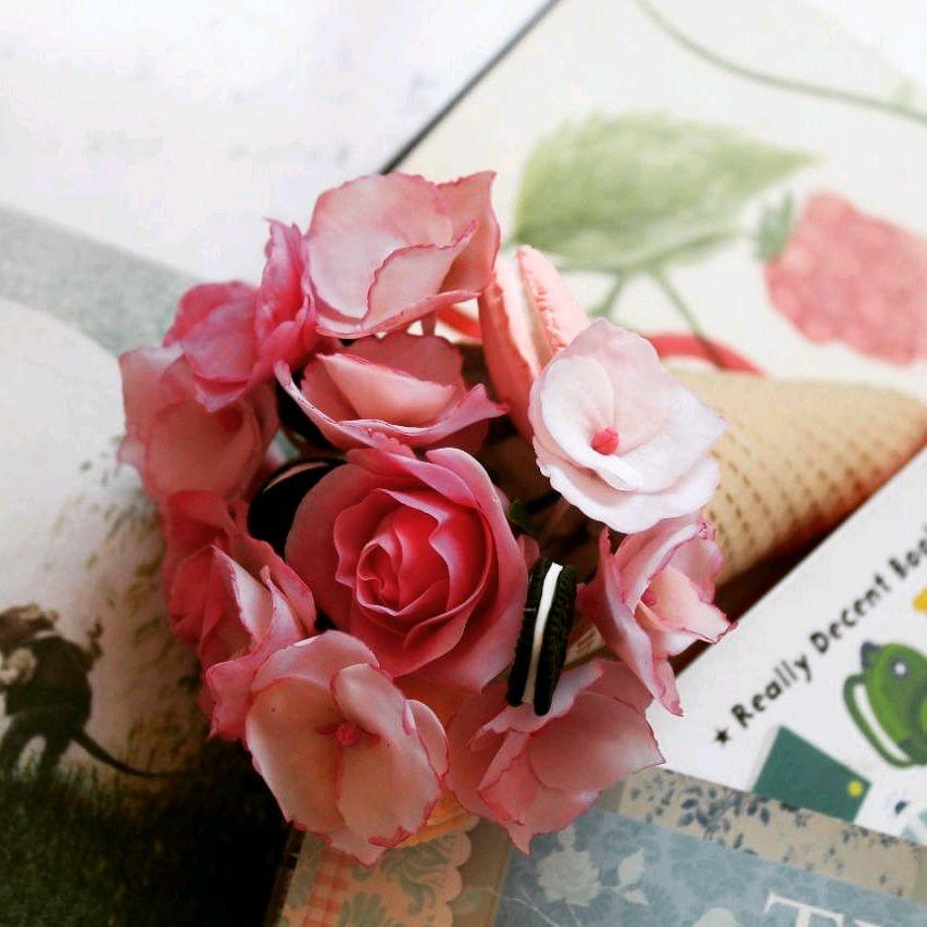 Рожок с цветами, Цветы, Алматы,  Фото №1