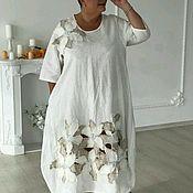 Одежда ручной работы. Ярмарка Мастеров - ручная работа Платье белое с цветами. Handmade.