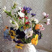 Цветы и флористика ручной работы. Ярмарка Мастеров - ручная работа Солнечный букет из полимерной глины. Handmade.