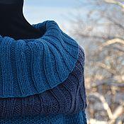 """Одежда ручной работы. Ярмарка Мастеров - ручная работа Платье - туника  вязаное """" Turquoise"""" ручная работа синий голубой. Handmade."""