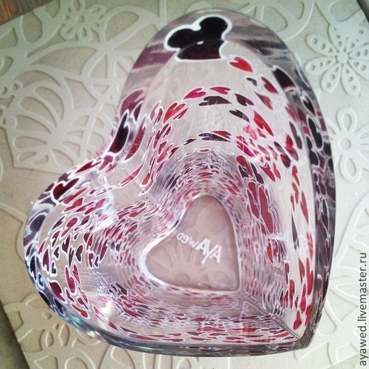 """Вазы ручной работы. Ярмарка Мастеров - ручная работа. Купить Ваза """"Сердца"""". Handmade. Ваза для цветов, красные сердечки"""