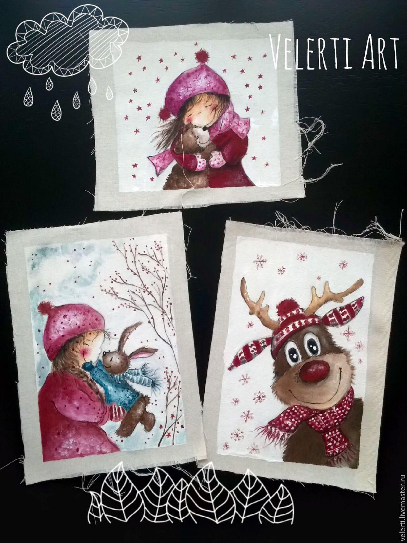 Набор текстильных купонов:`Рождество`