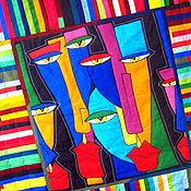 Для дома и интерьера ручной работы. Ярмарка Мастеров - ручная работа покрывало пэчворк   АЛЬТЕР ЭГО. Handmade.
