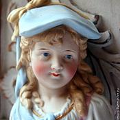 """Винтаж ручной работы. Ярмарка Мастеров - ручная работа бюст """"Девочка в голубом головном уборе"""""""". Handmade."""