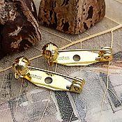 Материалы для творчества handmade. Livemaster - original item Brooch pin 20mm Japan (3332-W). Handmade.