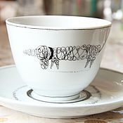 Посуда ручной работы. Ярмарка Мастеров - ручная работа чайная пара с таксой 2. Handmade.