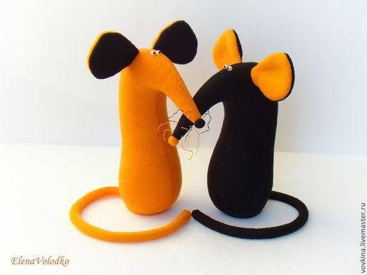 Игрушки животные, ручной работы. Ярмарка Мастеров - ручная работа. Купить Мышки Огонь и Земля. Handmade. Мягкая игрушка, черный