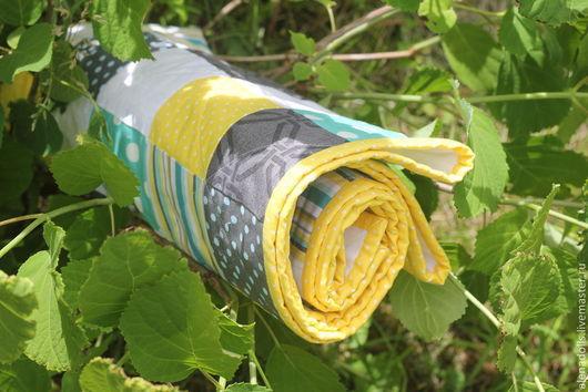 Пледы и одеяла ручной работы. Ярмарка Мастеров - ручная работа. Купить Детское одеяло. Handmade. В клеточку, лоскутное одеяло
