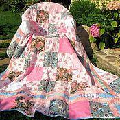 Для дома и интерьера ручной работы. Ярмарка Мастеров - ручная работа Лоскутное полутороспальное покрывало в розовых тонах. Handmade.