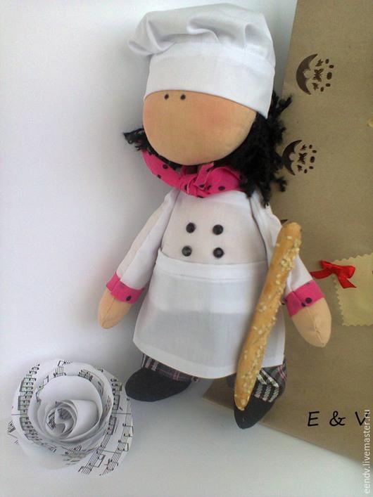 Коллекционные куклы ручной работы. Ярмарка Мастеров - ручная работа. Купить Поваренок. Handmade. Белый, интерьерная игрушка, текстильная игрушка