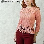 Одежда ручной работы. Ярмарка Мастеров - ручная работа Авторский кружевной блузон. Handmade.