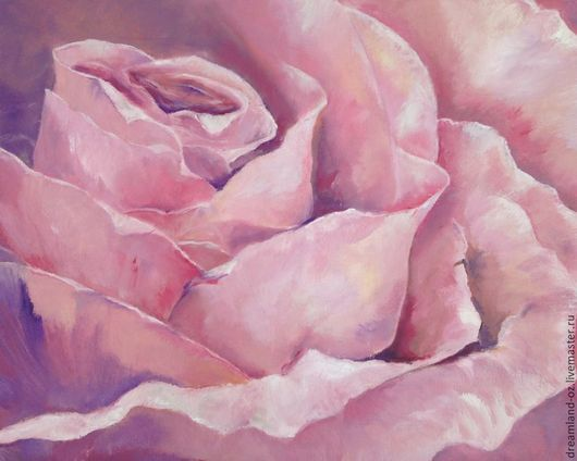 """Картины цветов ручной работы. Ярмарка Мастеров - ручная работа. Купить Картина маслом """" Розовая нежность """". Handmade."""