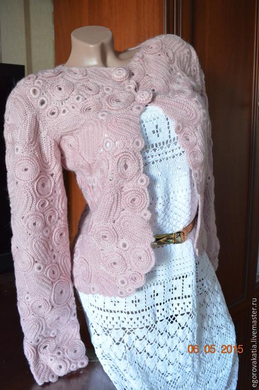 Пиджаки, жакеты ручной работы. Ярмарка Мастеров - ручная работа. Купить ЖАКЕТ В ТЕХНИКЕ ирландского кружева. Handmade.
