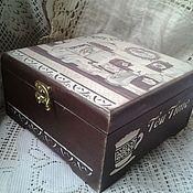 Для дома и интерьера handmade. Livemaster - original item Tea box Chocolate flavor. Handmade.