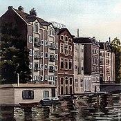 """Картины и панно ручной работы. Ярмарка Мастеров - ручная работа Картина """"Амстердам"""". Handmade."""