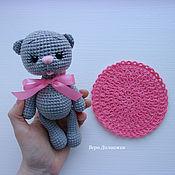 Мягкие игрушки ручной работы. Ярмарка Мастеров - ручная работа Котя. Вязаная игрушка. Handmade.