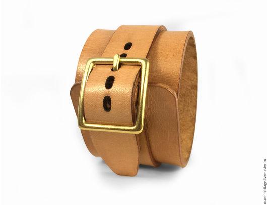 Браслеты ручной работы. Ярмарка Мастеров - ручная работа. Купить Кожаный браслет JD SINGLE - натуральный. Handmade. Натуральная кожа