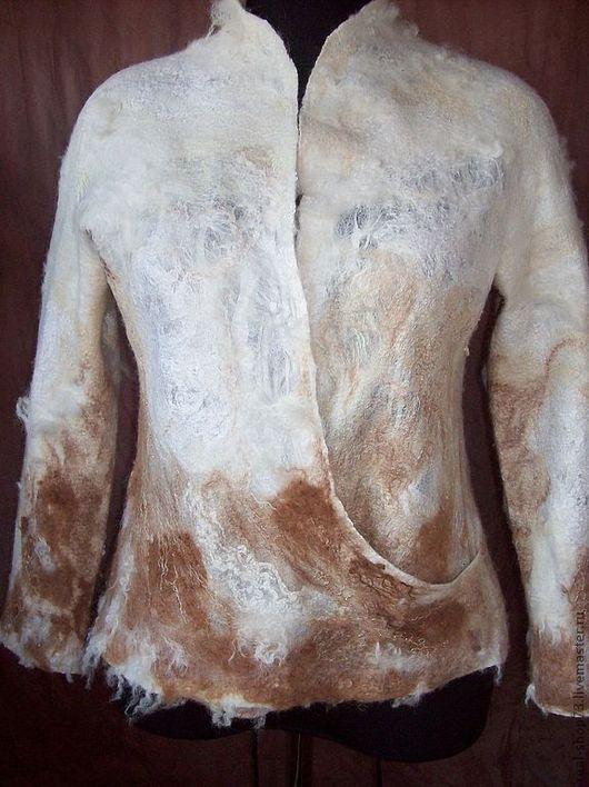Пиджаки, жакеты ручной работы. Ярмарка Мастеров - ручная работа. Купить Жакет валяный. Handmade. Абстрактный, валяная одежда