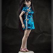 Одежда для кукол ручной работы. Ярмарка Мастеров - ручная работа Платье «Ципао» для куклы БЖД SMD (1/4). Handmade.