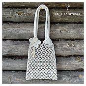 Сумки и аксессуары handmade. Livemaster - original item Bag-string bag with a flower. Handmade.